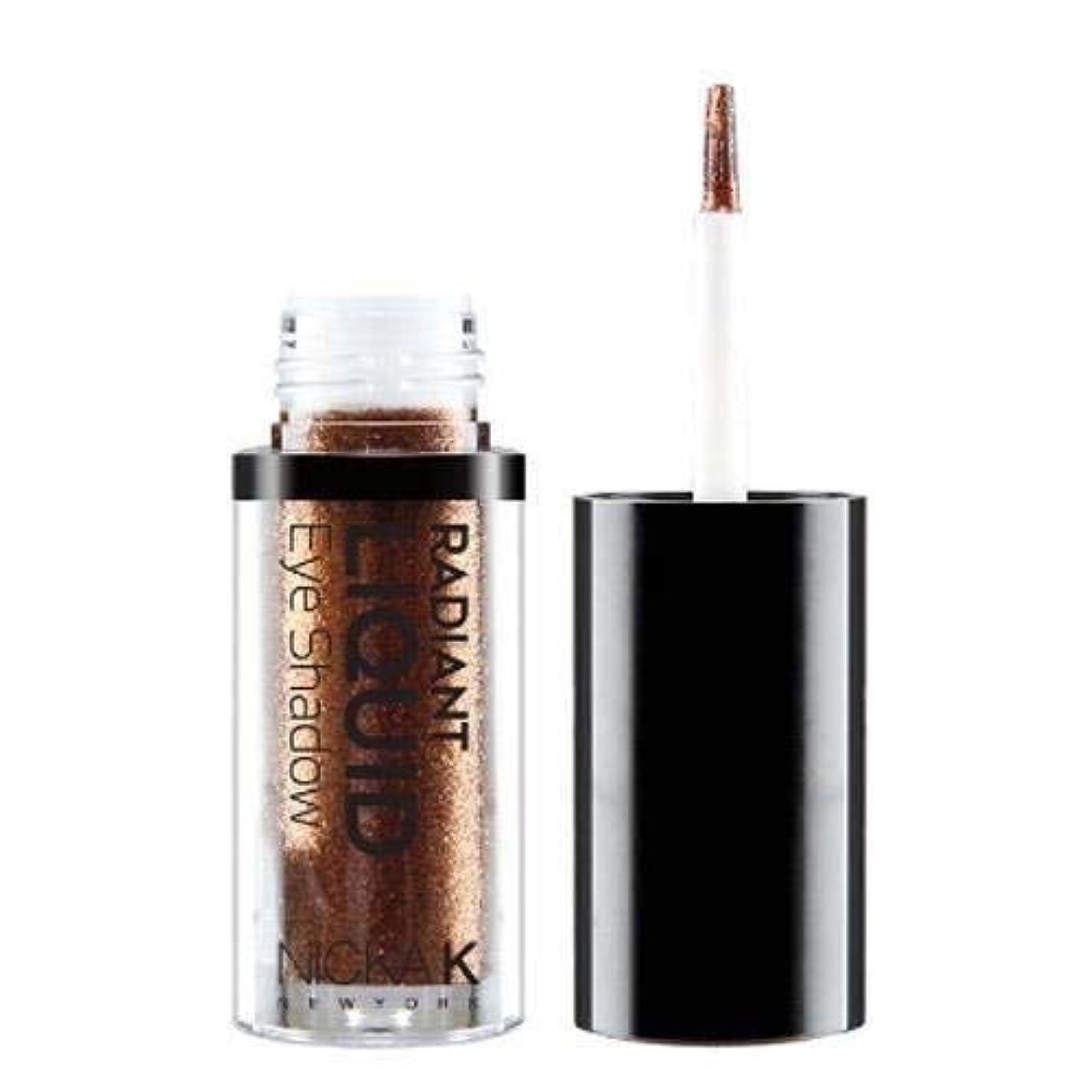 法廷位置づける理想的にはNICKA K Radiant Liquid Eye Shadow - Earthly Bronzite (並行輸入品)