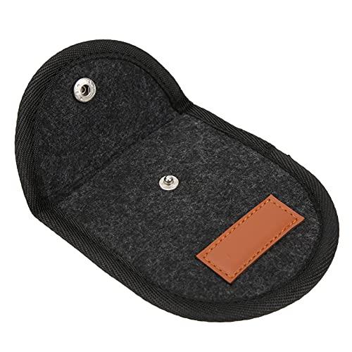 Gitarren-Pick-Tasche, Gitarren-Pick-Tasche tragbare Größe für den Außenbereich für Gitarren-Plektren-Organizer(Schwarz)