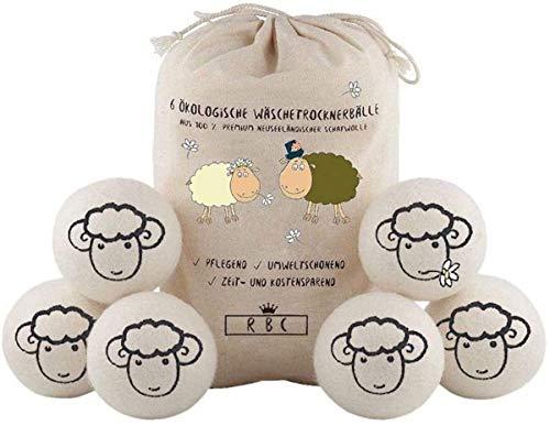 XXXLTrocknerbälle para secadora - el suavizante natural de 100% lana de oveja - hecho a mano - cuida mejor la ropa