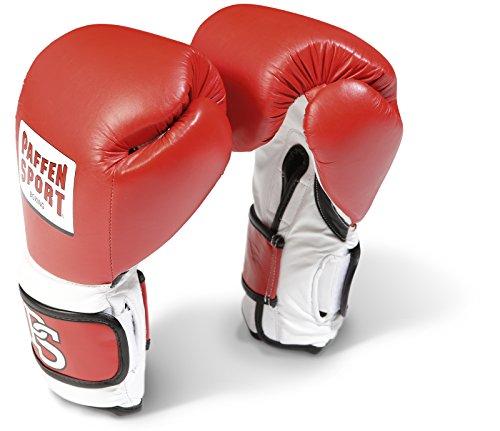 Paffen Sport PRO Performance Boxhandschuhe für das Sparring; rot/weiß/schwarz; 14UZ