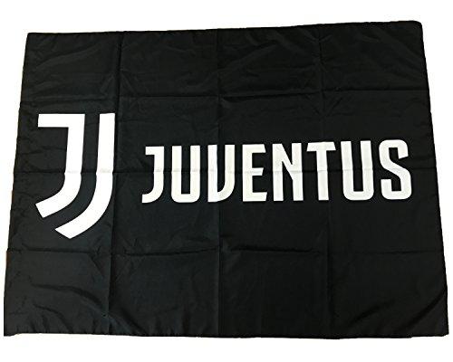 Juventus Bandiera Nera Nuovo Logo 100% Poliestere