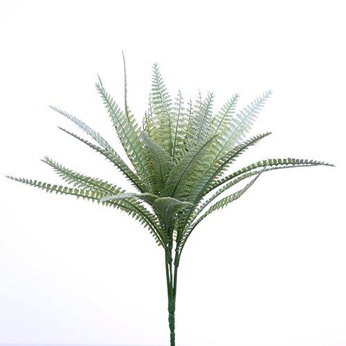 34cm Artificial Plástico Color Verde helecho Bush–35hojas en total–Trabaja Con Flores. Boda Cesta colgante serpiente Vivarium
