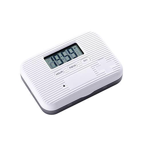 JiGAN 2-serie 6 scheidbare vierkante pillendoos met digitale wekker, herinnering elektrische timing intelligente medicijnhouder splitter