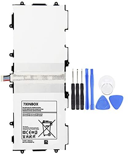 7XINbox T4500E 3.8V 6800mAh Batería Reemplazo para Samsung Galaxy Tab 3 10.1 GT-P5210 P5200 T4500C GT-P5200 GT-P5220 GT-P5213 P5210 P5200 P5220 P5213AAaD503tS / 7-B AA1D625aS / 7-B