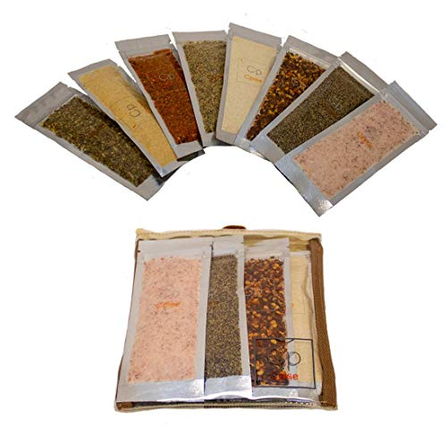 Cpise ORGANIC Camping Spice Set with 8 Essential Spices for Camping & Travel