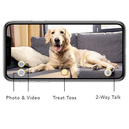 Product Image 3: Furbo Dog Camera: Full HD Wifi Pet Camera with 2-Way-Audio, Treat Tossing, Night Vision and Barking Alerts, Designed for Dogs, Works with Amazon Alexa (As Seen On Paul O'Grady – For the Love of Dogs)