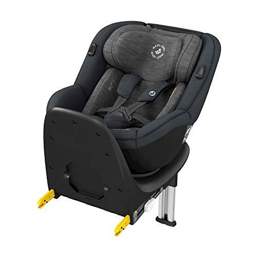 Maxi-Cosi Mica, 360° drehbarer i-Size Kindersitz inkl. ISOFIX Basis, Gruppe 0/1 Autositz (bis ca. 105 cm / 18 kg) G-Cell Seitenschutz, nutzbar ab ca. 4 Monate bis ca. 4 Jahre, authentic graphite