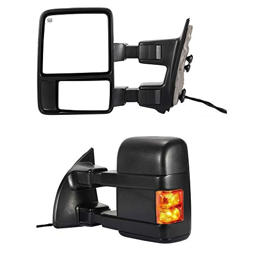 Fantastic Deal! HANSCOSTAR Pair Power Heated Towing Mirrors Glass For 2008-2016 F250-F550 SuperDuty