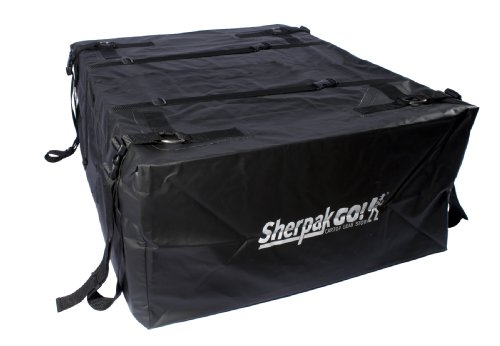 Seattle Sports Sherpak Go!15 Waterproof Cartop Storage Cargo Bag Carrier for Car Rooftop