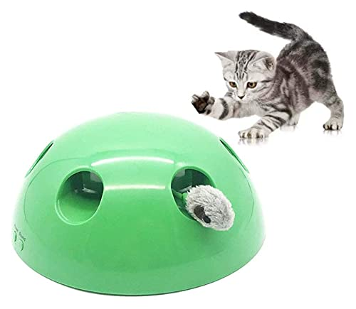 HUILE Gato Juguetes interactivos, rotación de 360 ° Gato Juguetes interactivos electrónicos Inteligentes aleatorios aleatorios estimula los sentidos de Gato Juguetes Divertidos Mascotas