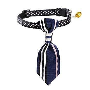 Runfon Collier Cravate Chien détachable Collier Noeud Chiot réglable Collier Chien et Chat Fournitures Cravate