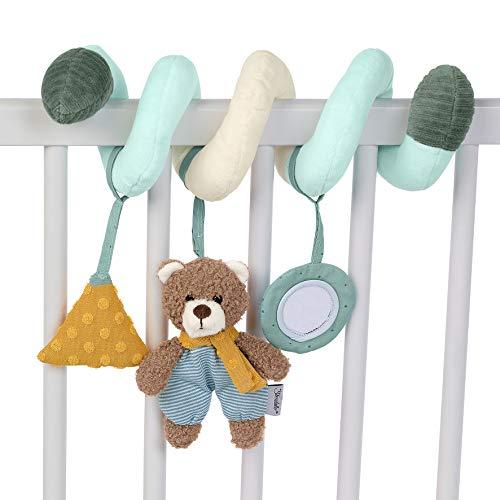 Sterntaler 6612002 Spielzeugspirale, Bär Ben, Inklusive Rassel, Alter: Für Babys ab der Geburt, Mehrfarbig