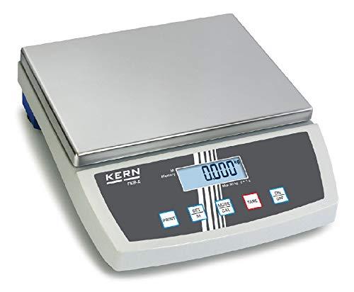 Tischwaage mit großer Wägeplatte [Kern FKB 8K0.1A] Präzision bis 0,1 g, Wägebereich max. 8 kg