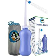 AVAbay Personal Portable Bidet Sprayer - 15.2oz Peri Travel Bottle for Cleansing - Perineal Recovery Including Extended Nozzle with Storage Bag - Personal Hygiene Care Toilet Bedet for PostPartum Care