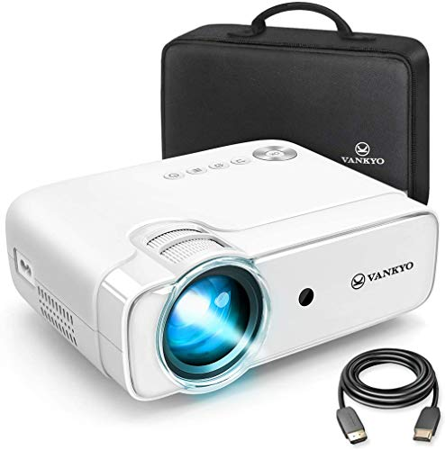 Videoprojecteur, VANKYO 5500 Lumens Projecteur Soutien 1080P Full HD , Mini Retroprojecteur Portable Multimédia Cinéma Maison, HDMI/VGA/AV/TF/USB Compatible avec TV Box/PS4/Smartphone