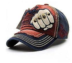 Handcuffs Stylish Cotton Adjustable Baseball Cap (Blue)