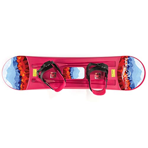 Lucky Bums Bambini Snowboard in plastica, Bambino, Plastic, Pink, 95 cm