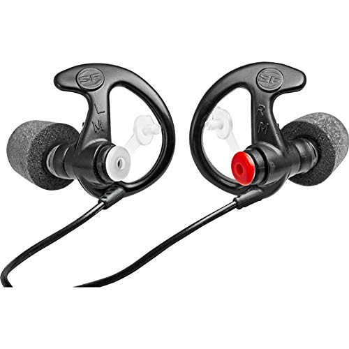 SureFire EP7 Sonic Defenders Ultra filtered Earplugs w/ Comply Canal Tips, reusable, Black, Medium