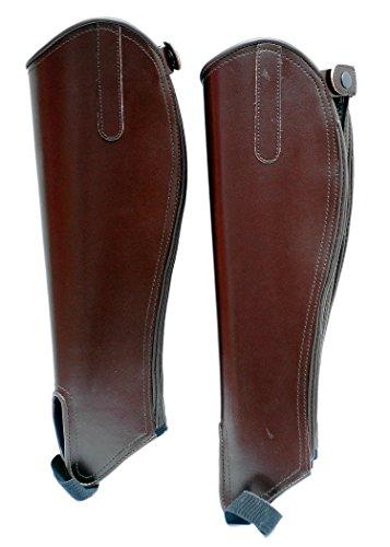 Huxlay Bros Hessan Klassische Ledergamaschen für Erwachsene, braun, m