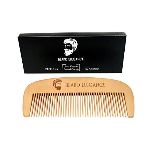 Peine de barba de peral ultraligero de BEARD ELEGANCE ● para el cuidado...