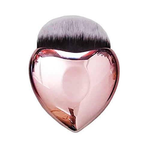 Brosse Cosmétiques Longra Brosse anti-cernes Brosse à poudre Brosse d'ombre d'oeil Brosse cosmétique Makeup Maquillage pinceau Eyeliner Fond de teint en poudre en forme de coeur (MulticoloreB)
