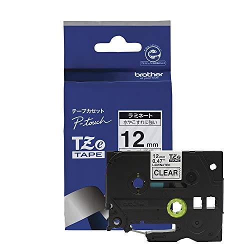 Brother TZe131 Original P-touch Schriftband12 mm, schwarz auf transparent (kompatibel u.a. mit Brother P-touch H100LB/R, H105, E100/VP, D200/BW/VP, D210/VP)