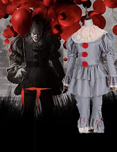 Gruselige Scary Halloween Cosplay Kostüm Maske Adult Party Scary Clown Teufel Zombie Horror Dekoration Requisiten,XXL