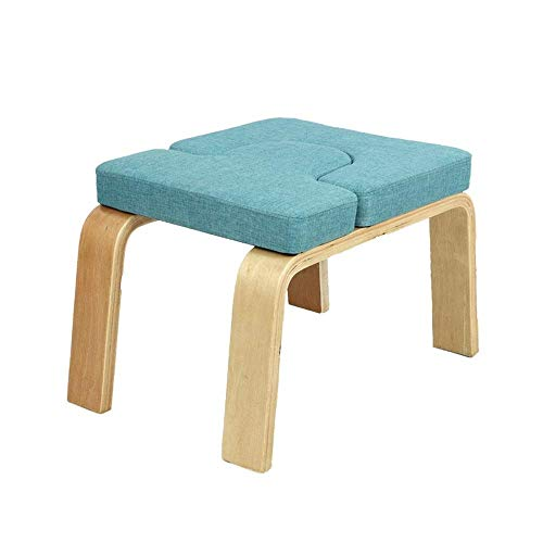 Lowest Prices! SCTBJ Yoga Headstand Bench - Stand Yoga Chair for Family, Gym - Wood and PU Pads - Re...