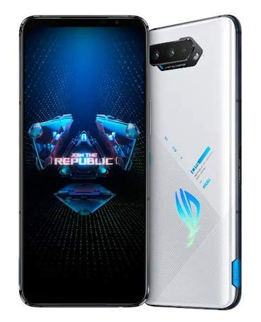 Asus ROG Phone 5 ZS673KS / I005DA 5G Dual 256GB 12GB RAM Factory Unlocked (GSM Only | No CDMA - not Compatible with Verizon/Sprint) Tencent Games with Google Play - White