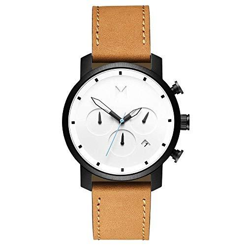 MVMT Herren Chronograph Quarz Uhr mit Leder Armband D-MC02-WBTL