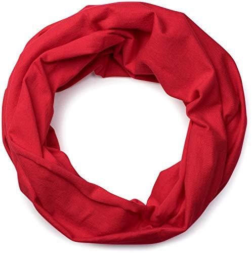 styleBREAKER styleBREAKER Jersey Multifunktionstuch, Schlauchtuch, Stirnband, Haarband, Kopftuch, Loop Schlauchschal, Unisex 01012037, Farbe:Rot