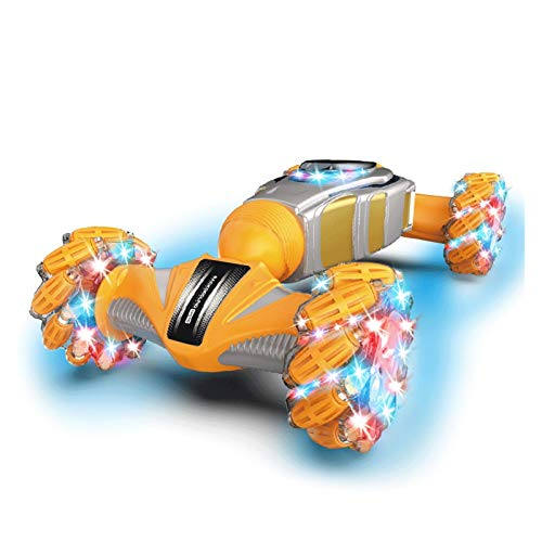 YYQIANG Gesture - Spray de inducción con control remoto para coche, escalada, todoterreno, luz para vehículos todoterreno, juguete de cumpleaños para niños (color: naranja)