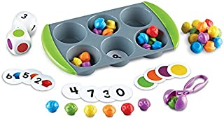 Learning Resources Mini Muffin Match Up Counting Toy Set, Homeschool, Fine Motor, 76 Pieces, Ages 3+