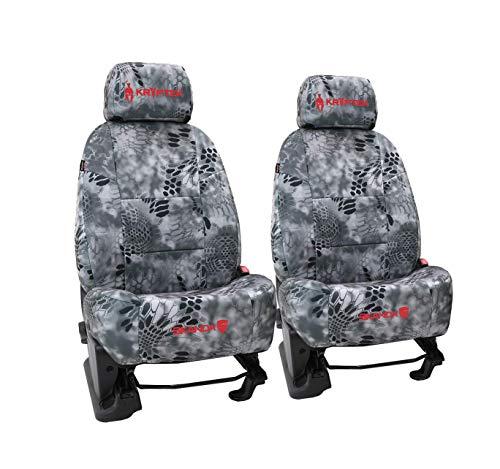 Front Seats: ShearComfort Custom Kryptek Neo-Supreme Seat Covers for Toyota Tacoma (2005-2008) in Kryptek Neo-Supreme Raid for Buckets w/Adjustable Headrests (TRD, X Runner, Pre Runner)
