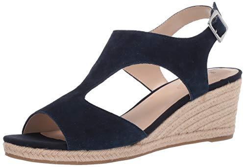 Bandolino Footwear Women's Natasha Espadrille Wedge Sandal, Navy, 7.5