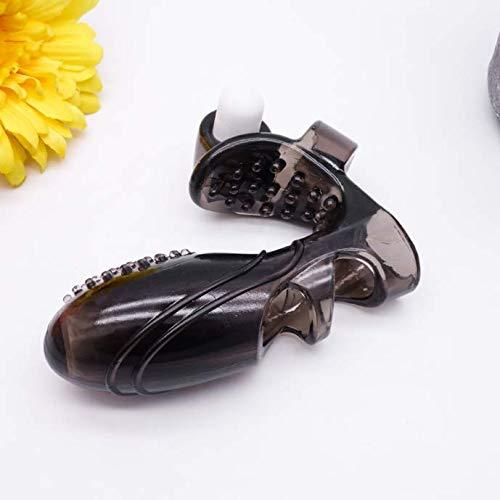 Gemakkelijk te dragen zwarte siliconen handschoenen met deeltjes veilig en comfortabel -594