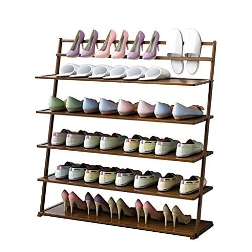 HYAN Zapatero Bambú de Estilo japonés de Zapatos para Zapatos Saving Saving Shelf Almacenamiento de Zapatos Organizador Torre de Zapato para Sala de Estar Entrada de vestíbulo Caja de Zapatos