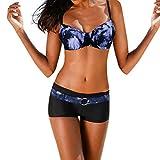 Rosennie Damen Bikini Set Push Up Gepolstert Bademode Badeanzug Mit Bügel Frauen Sexy Krawatte...