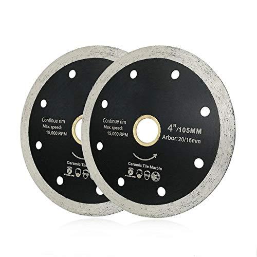 SHENGYUAN 2pcs 105mm o 115mm presurizado en Caliente Delgada Continuar Discos de Corte del Borde de Diamante Las Hojas de Diamante Ceramic Tile-Chip Gratis (Size : 2pcs 115mm)