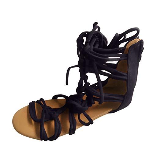 Summer Fashion Open Toe Sandals Large Size Cross Strap Flat,Solid Color Schuhe für Arbeit Einkaufen Tägliche Reise