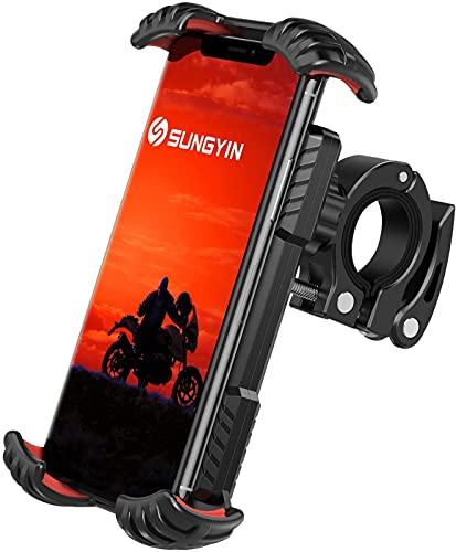 Asnoty Soporte Movil Bicicleta, Soporte Movil Bici Moto Rotación 360°, Soporte Teléfono Bicicleta Anti Vibración Desmontable, para iPhone, Samsung, Huawei y Otro 4,7 a 7,0 Pulgadas Smartphone