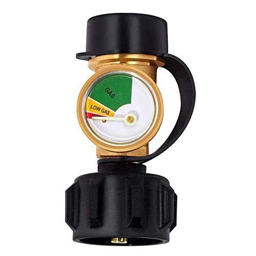 OMKMNOE Füllstandsanzeige Für Gasflaschen, BBQ Gas Manometer, Passend Für QCC1 / Typ1-Anschluss 5-40 Lb Propantank Zylinder, Gasgrill, Heizung,Gold