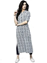 AnjuShree Choice Women Stitched Straight Cotton Kurti