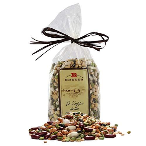 Zuppa Rustica di Legumi Misti, Fagioli E Piselli, Sacchetto da 500 Grammi (Confezione da 2 Pezzi)