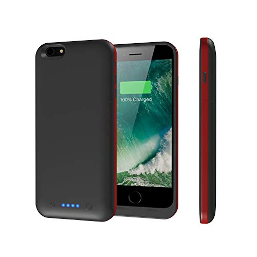 iPhone 6s Plus / 6 Plus Battery Case,Epuirie 6800mAh Portable Charger Case Rechargeable Extended Battery Pack Protective Backup Charging Case Cover for Apple iPhone 6s Plus/ 6 Plus(5.5 Inch)