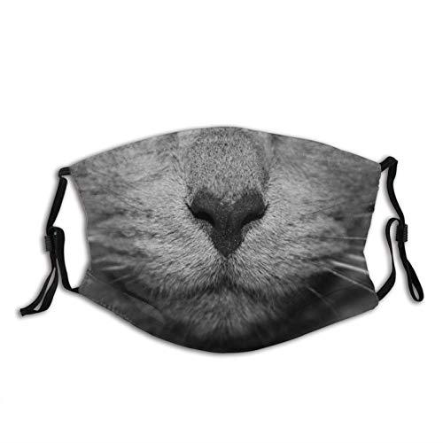 Mascarilla facial de boca de gato blanco y negro para adultos mujeres...