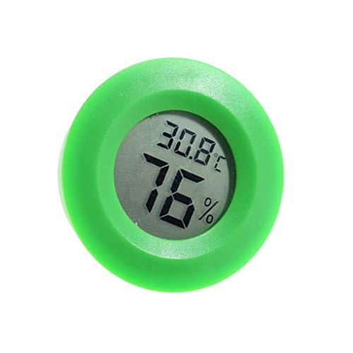 Bomcomi Display LCD Mini Tester di umidità di Pratica Digitale Indoor Rotonda termometro Termometro di umidità Metro Camera igrometro Temperatura