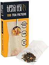 Tiesta Tea - Loose Leaf Tea Filters, 100 Count, Disposable Tea Infuser, 100% Natural Unbleached Paper, Steeps Hot Tea, Iced Tea & Coffee, Eco-Friendly, Single Serve Filter for one Cup, Empty Tea Bags