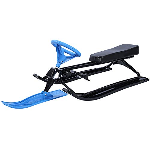 Product Image of the EBTOOLS Snow Racer Sled, Durable Steel and PE Children Ski Sled Slider Board...