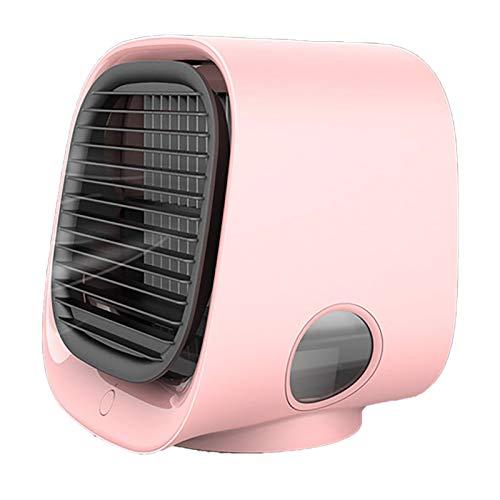 DSMGLRBGZ Ventilador Purificador Aire Pequeño Portatil USB para Laptop Pc Camper Coche Cámping Habitacion Carpa,Rosado